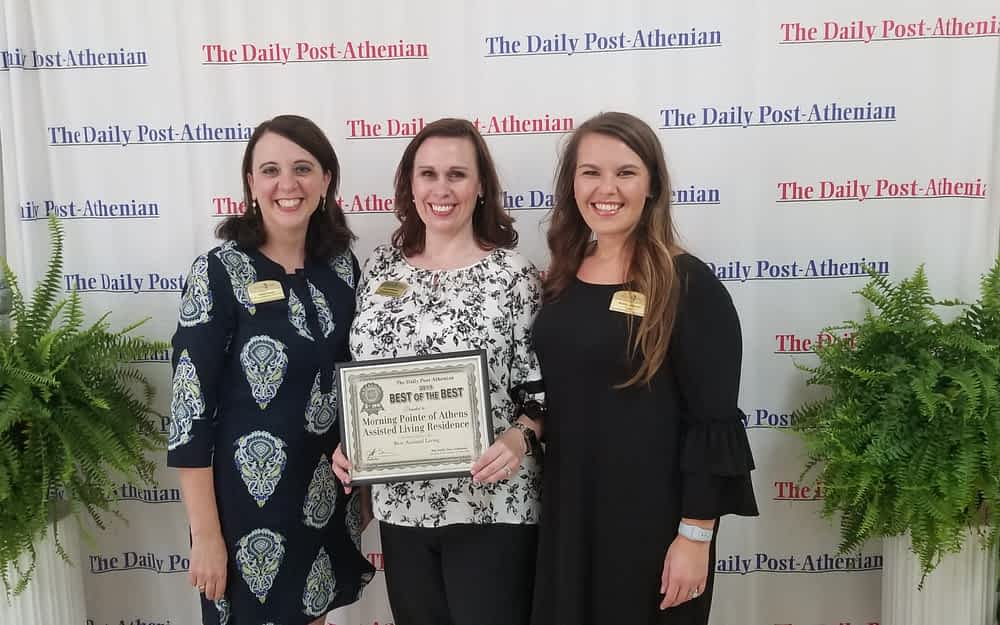 """Morning Pointe of Athens was voted """"Best of the Best"""" in Assisted Living by the Daily Post-Athenian for the sixth year in a row."""