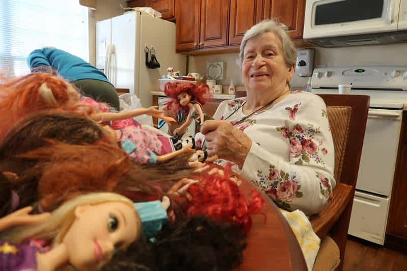 Morning Pointe Residents Breathe New Life Into Donated Dolls