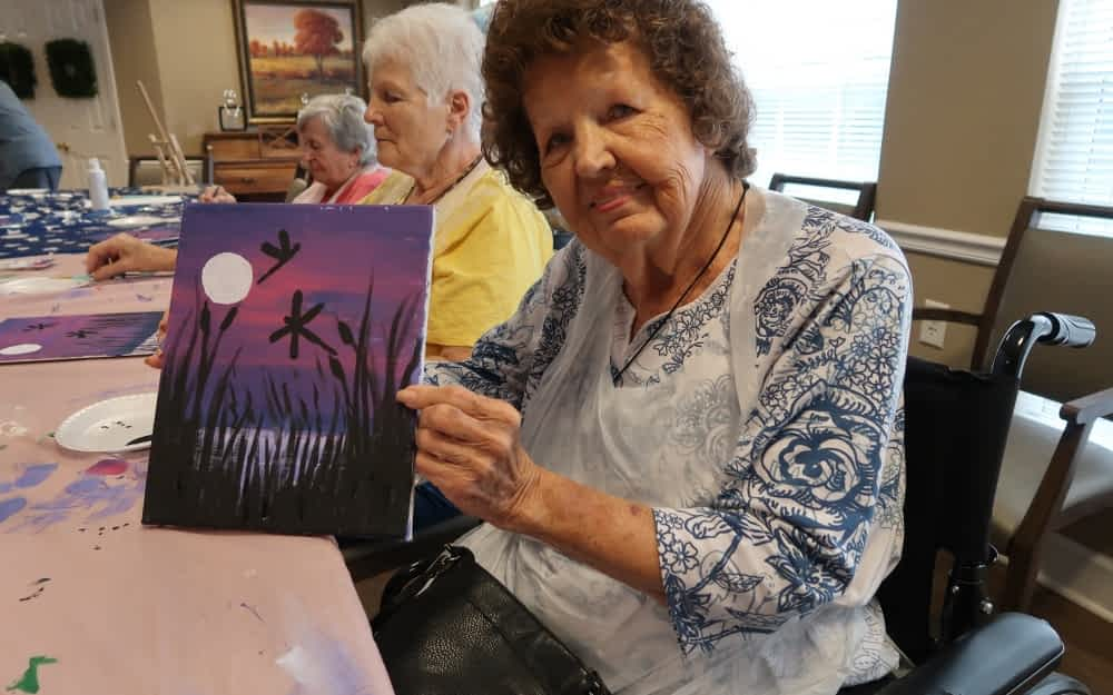 Weekly Painting Classes Inspire and Empower Morning Pointe Residents