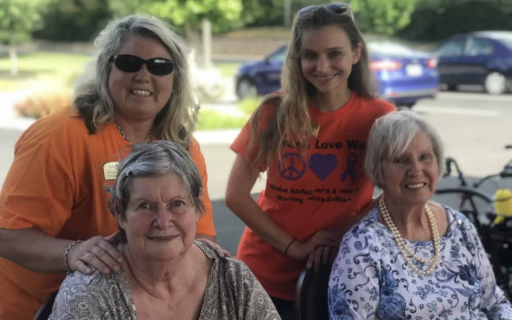 Morning Pointe Holds Vols Pep Rally in Honor of National Assisted Living Week