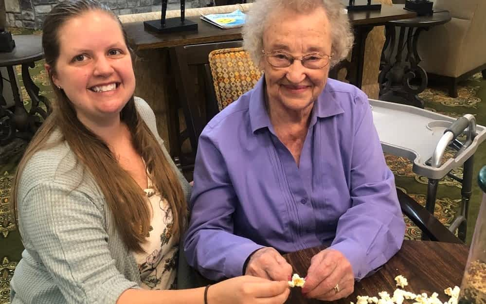 TSU Occupational Therapy Students Volunteer at Morning Pointe