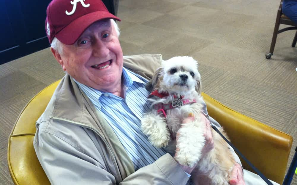 Morning Pointe Residents Cuddle Up to Pet Therapy