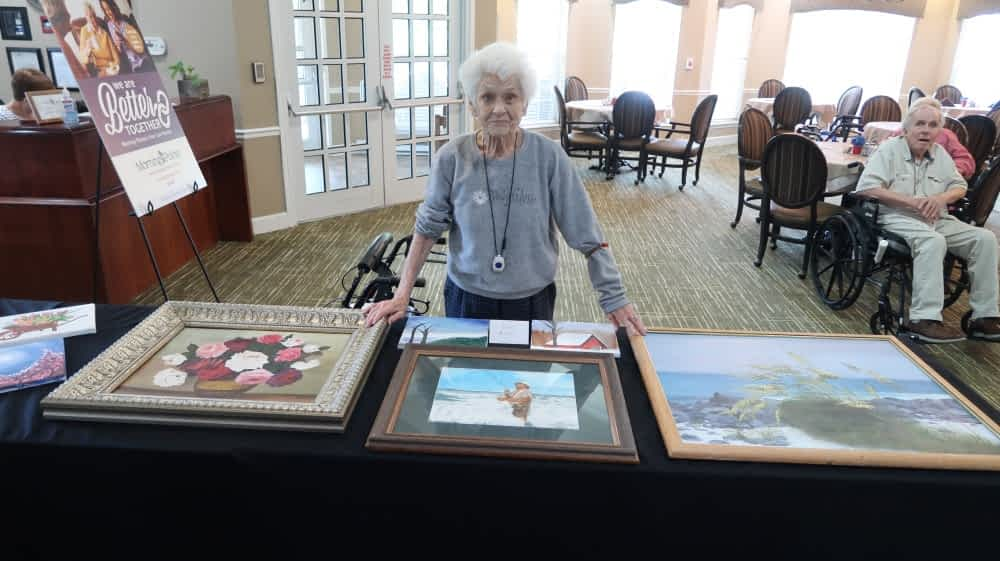Morning Pointe Showcases Residents' Art