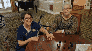 """Morning Pointe Residents Enjoy """"Nails and Tales"""""""
