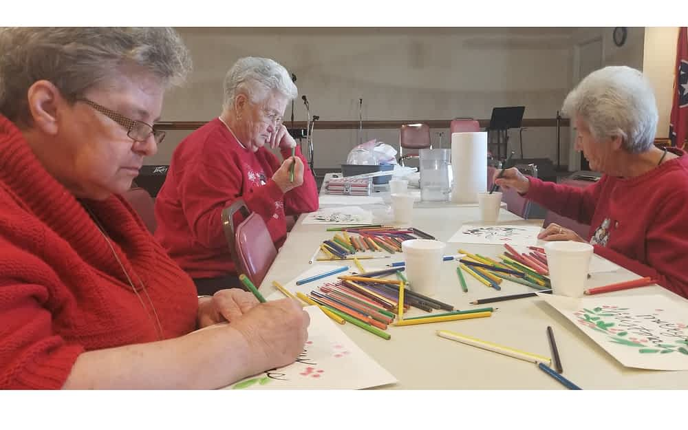 Morning Pointe Residents Get Creative at Senior Center Watercolor Class