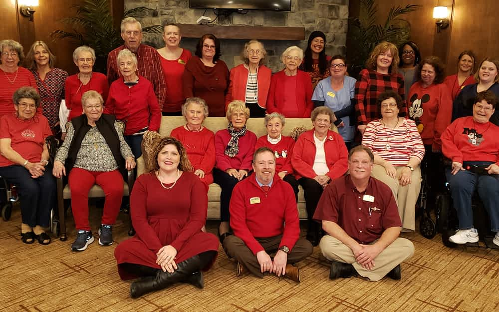 Morning Pointe Associates Wear Red in Support of Women's Heart Health