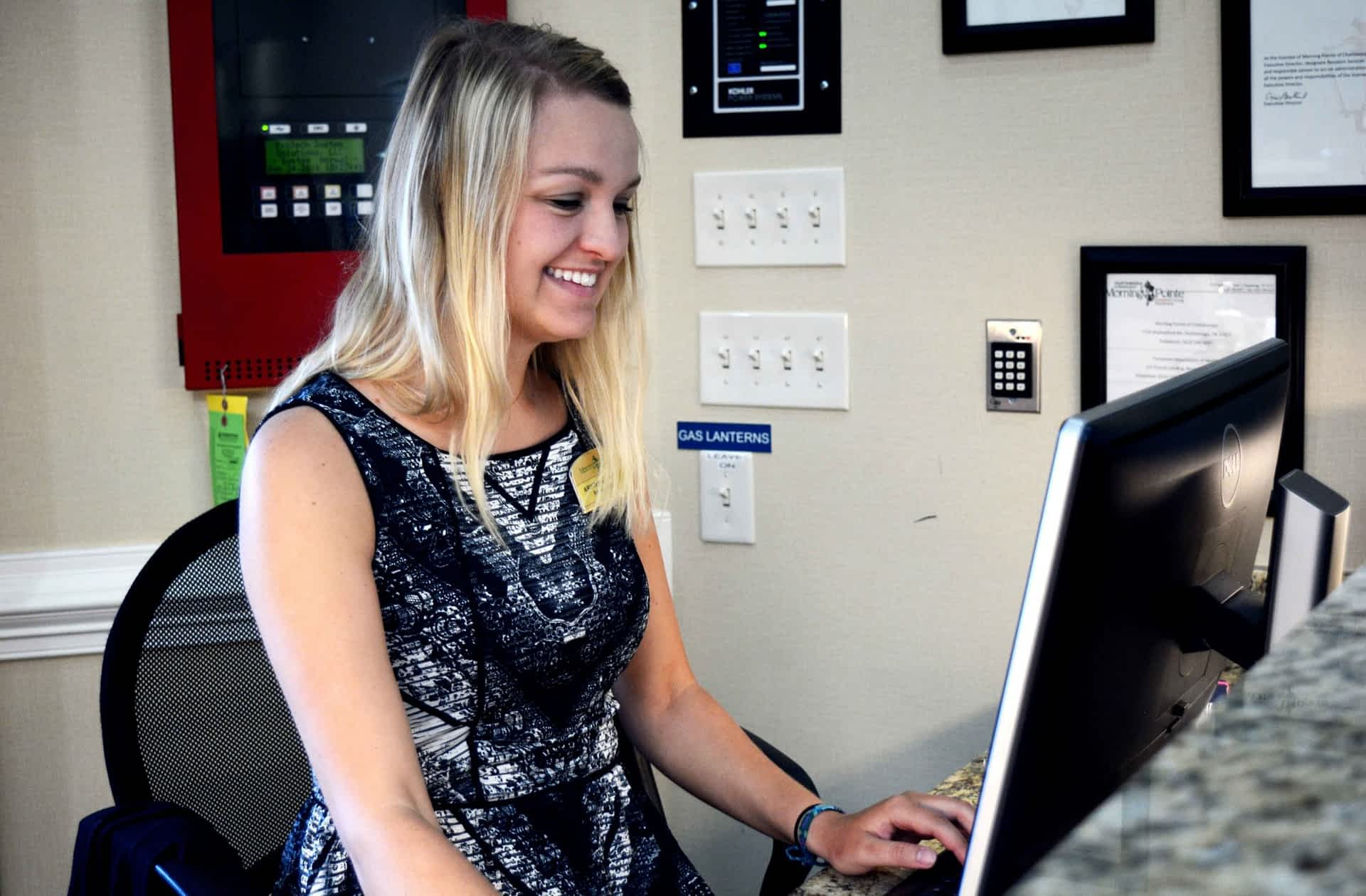 Receptionist at Morning Pointe
