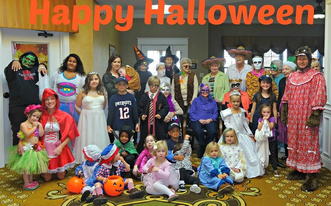 Morning Pointe Residents 'Trick or Treat' Across Town
