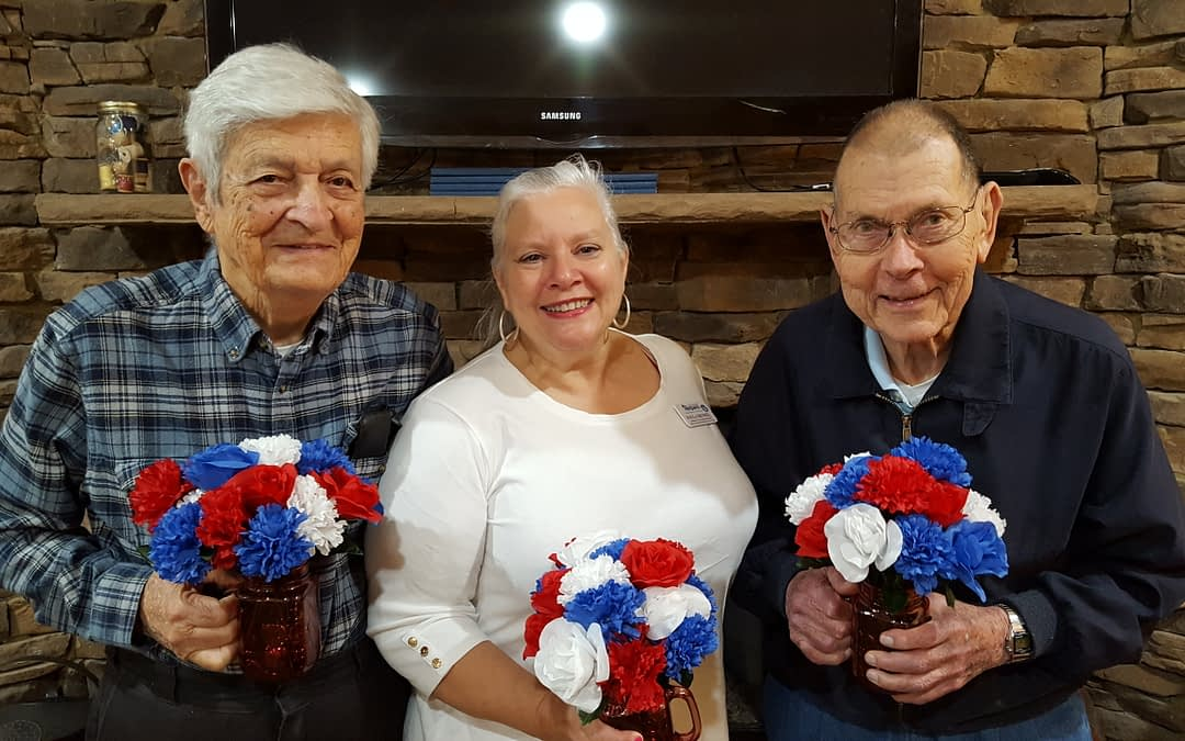 Morning Pointe Residents Create Memorial Day Decor
