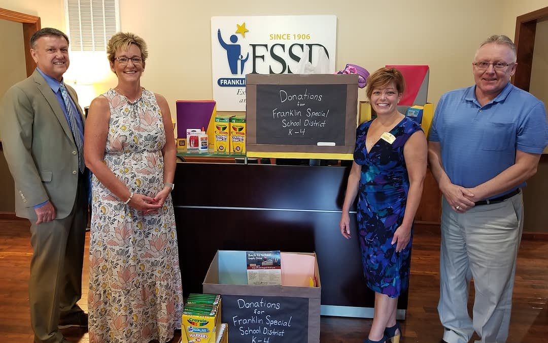 Morning Pointe Partners with Franklin Synergy Bank for School Supply Drive