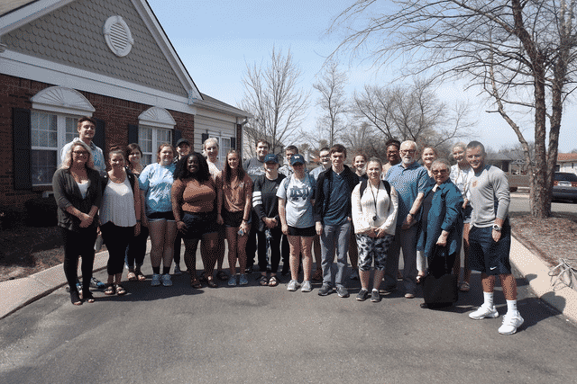 Franklin College Students Visit Morning Pointe of Franklin