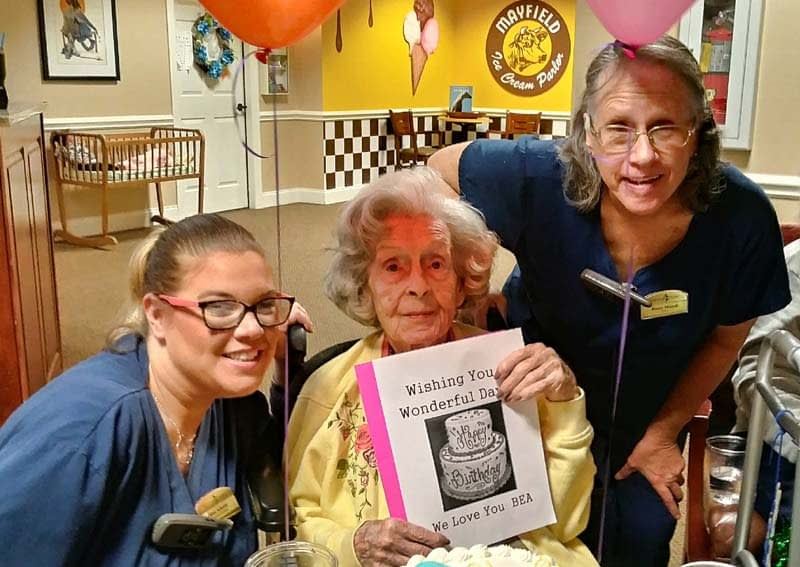 Morning Pointe Throws Birthday Celebration for Resident with Leap Year Birthday