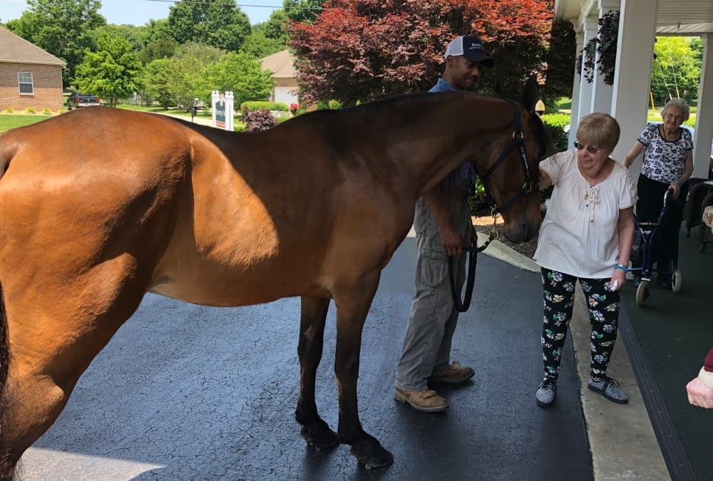 Son of Morning Pointe CNA Brings Pet Therapy to Residents