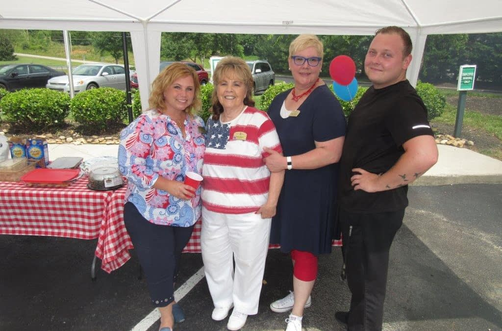 Morning Pointe Honors the Fallen with Community Memorial Day Cookout