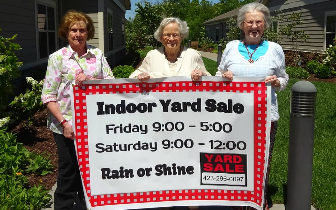 Morning Pointe Holds Yard Sale for Alzheimer's Association