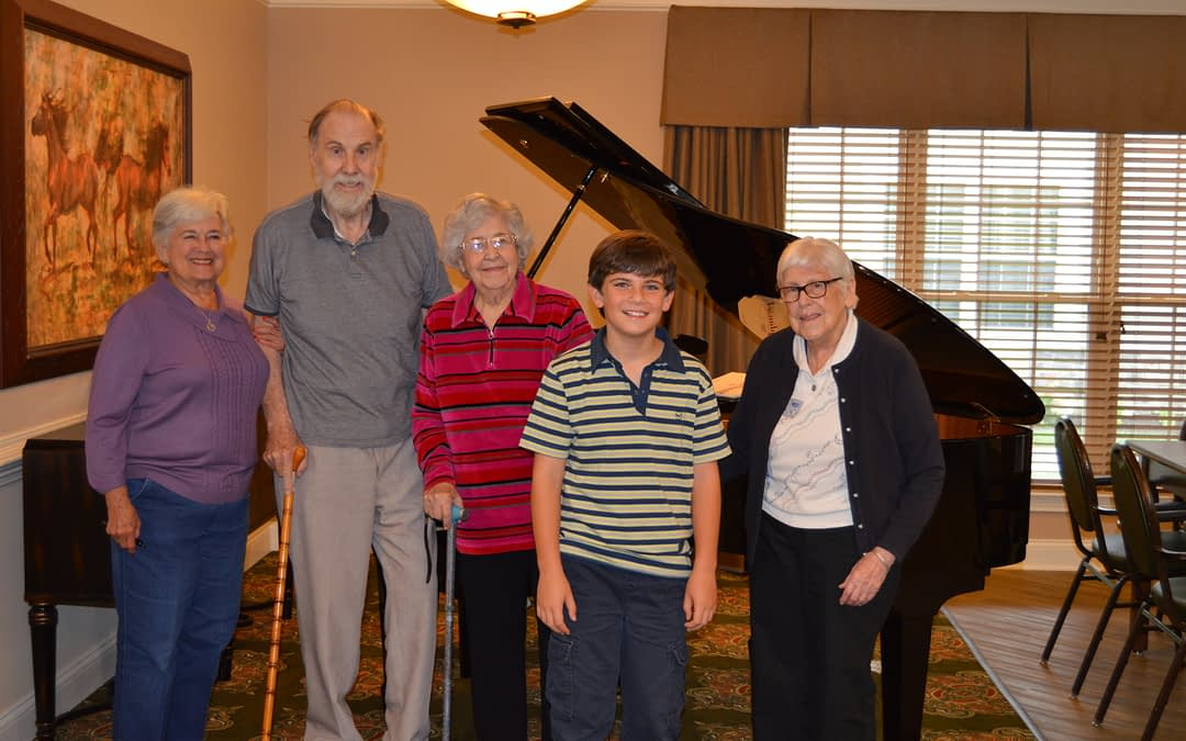 Youth Pianist Plays at Morning Pointe