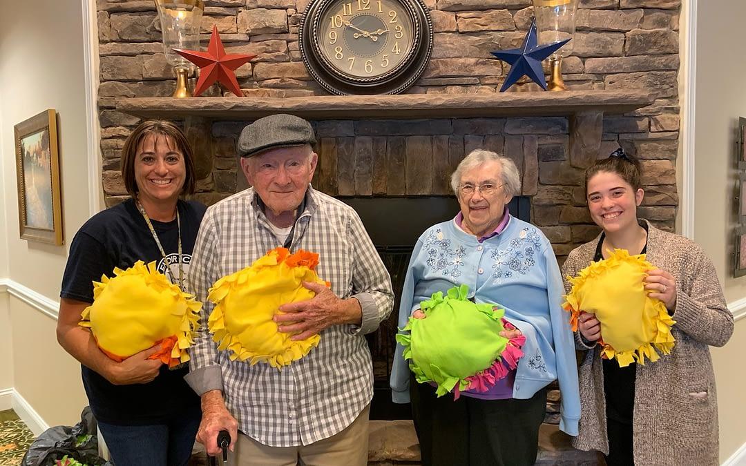 Lenoir City Christian Academy Students Donate Handmade Pillows to Morning Pointe