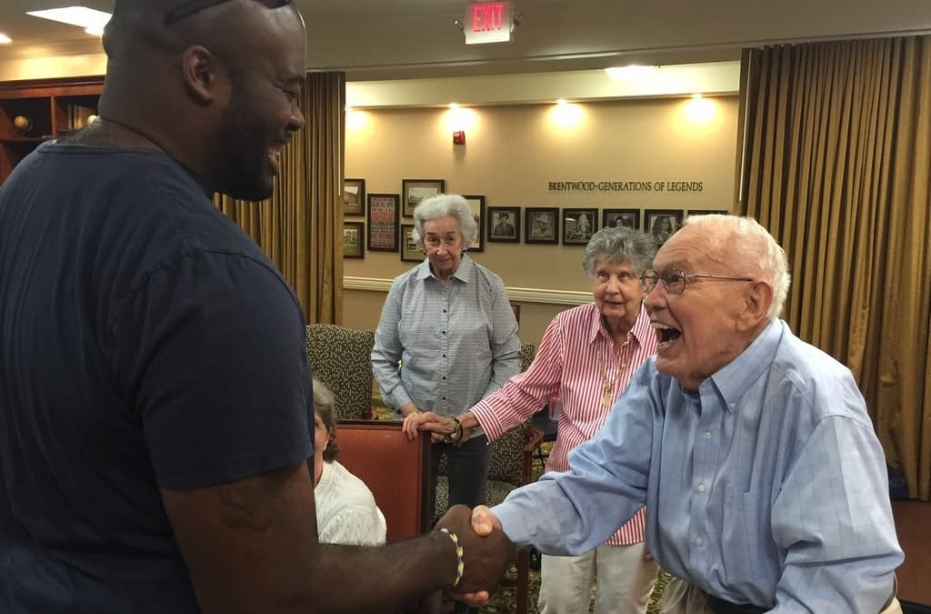 Former NFL Player Gives Father's Day Speech at Morning Pointe
