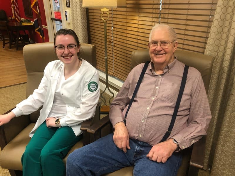 Columbia State Nursing Students Begin Clinicals at Morning Pointe