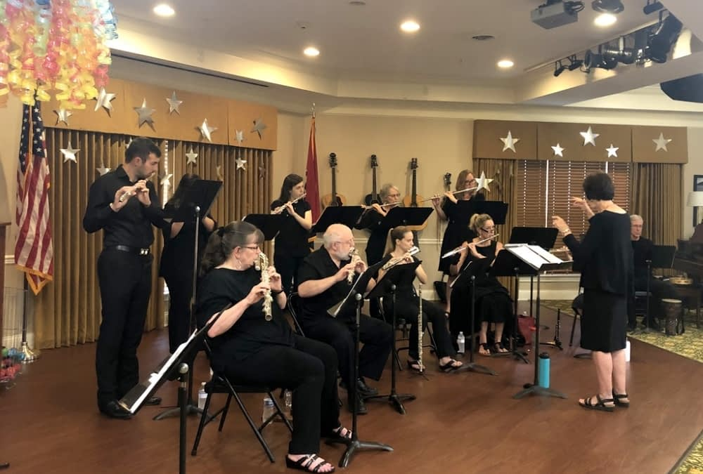 Nashville Flute Choir Concert Transports Morning Pointe Residents to Old Broadway