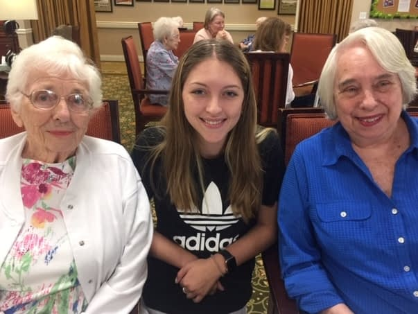 Morning Pointe Celebrates High School Volunteer's Three Years of Service