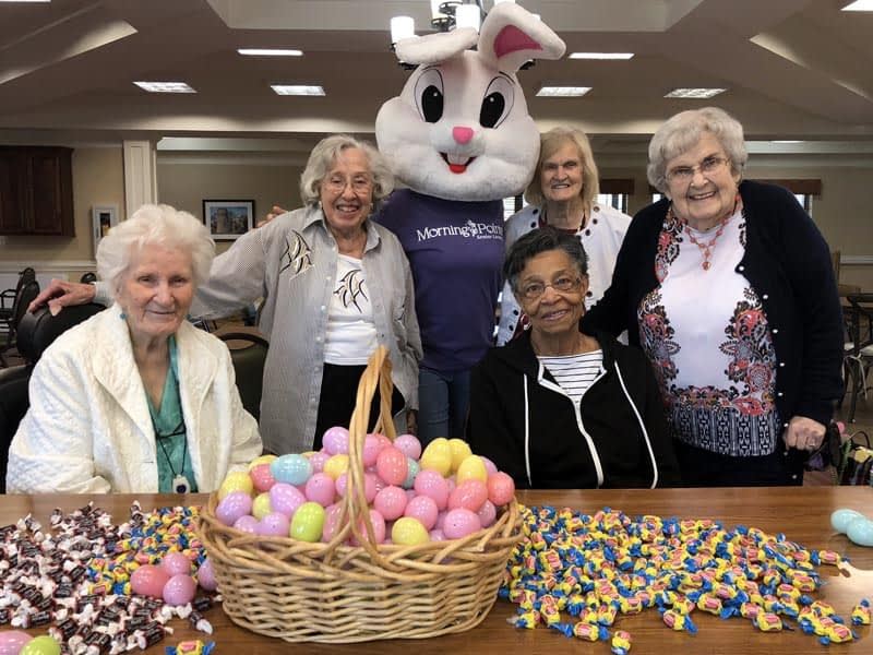Morning Pointe Residents Prepare for Annual Easter Egg Hunt