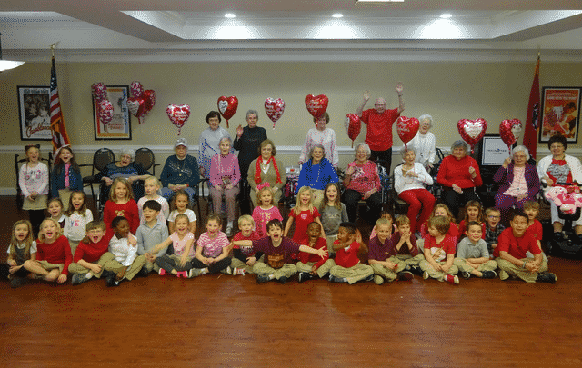 Morning Pointe, Grace Academy Make Valentine's Day Memories
