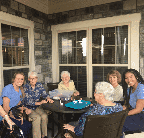 Morning Pointe Residents, Associates Pamper Each Other