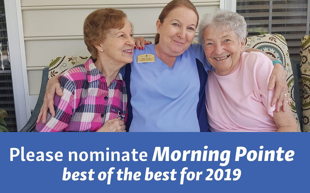 Please Help Nominate Morning Pointe as Best of the Best for 2019