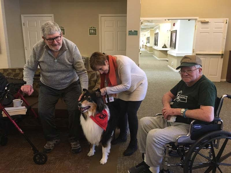 Volunteer Makes Morning Pointe Residents Smile with Therapy Dog