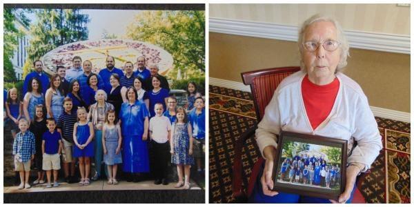 Morning Pointe Resident Celebrates Grandparents Day with 9 Grandchildren and 17 Great-grandchildren