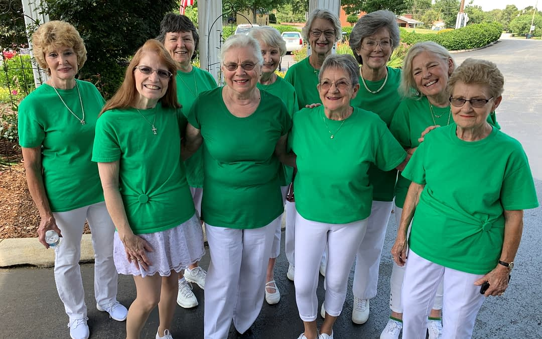 Roby Line Dancers Perform at Morning Pointe