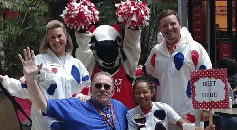 Morning Pointe Senior Living Celebrates Cow Appreciation Day Chick fil A 2018