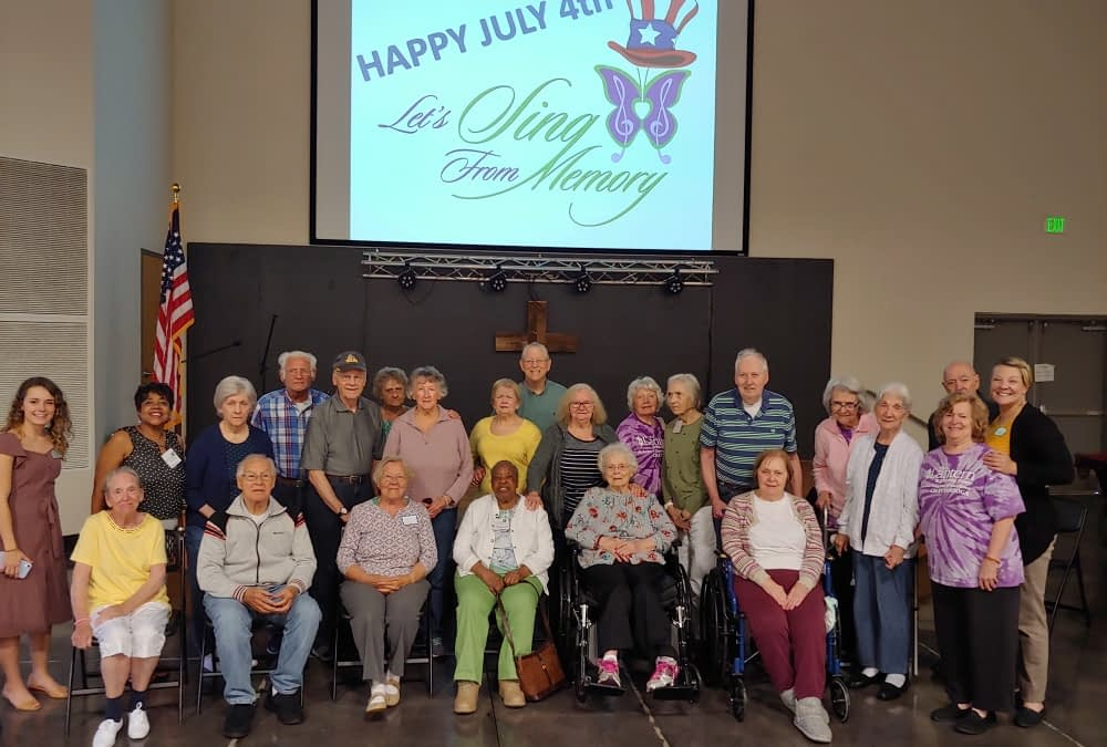 "Morning Pointe Celebrates Independence Day at Christ UMC's ""Let's Sing from Memory"""