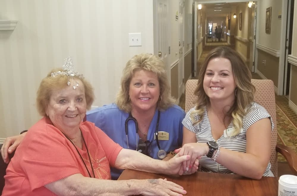 Morning Pointe Pampers Female Residents on Gorgeous Grandma Day