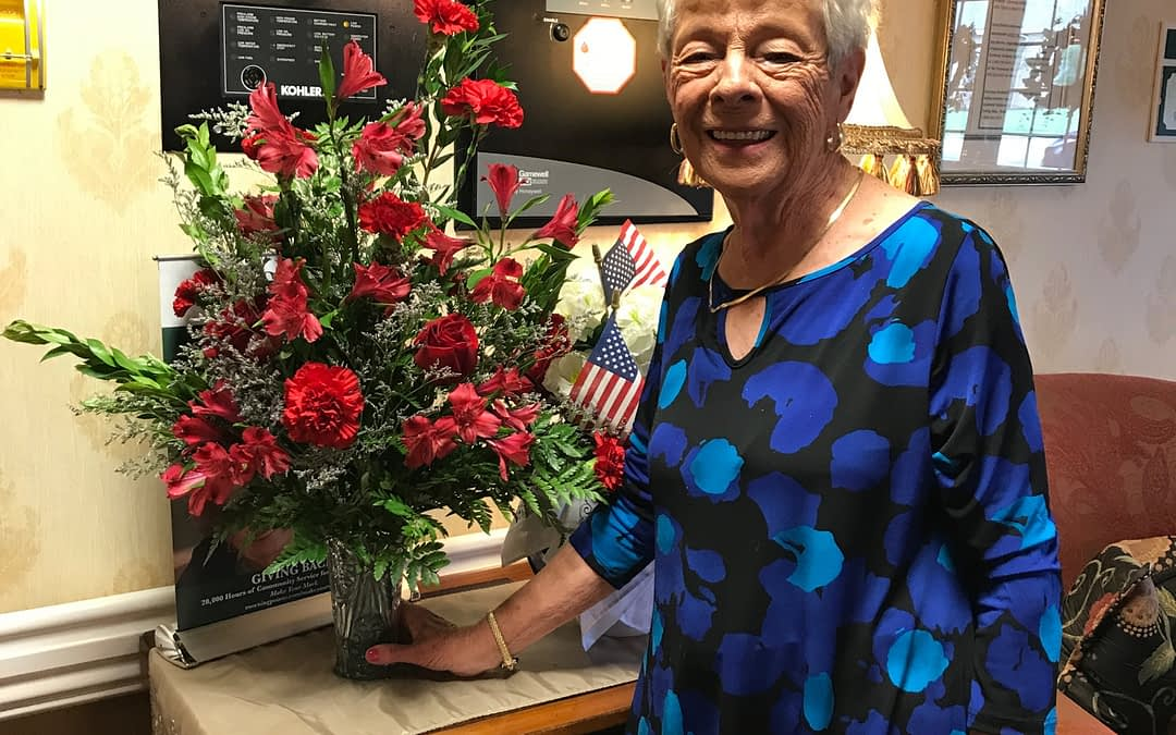 Regenia Mayfield Plants Memories at Morning Pointe