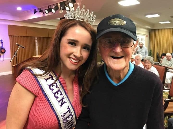 Beauty Queen Encourages Morning Pointe Vets to Take DC Honor Flight