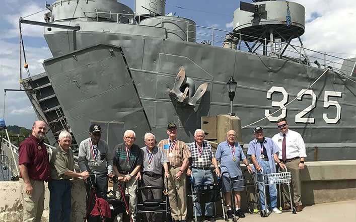 Morning Pointe Residents Tour Historic World War II Ship