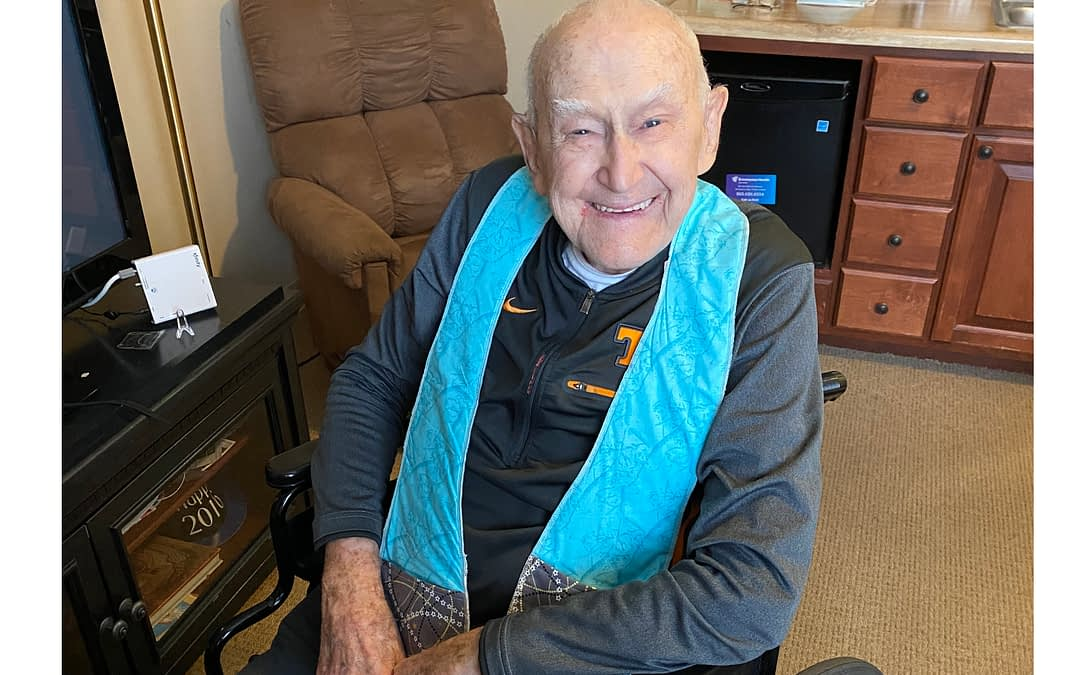 Local Craft Store Owner Makes Handmade Scarves for Morning Pointe Residents