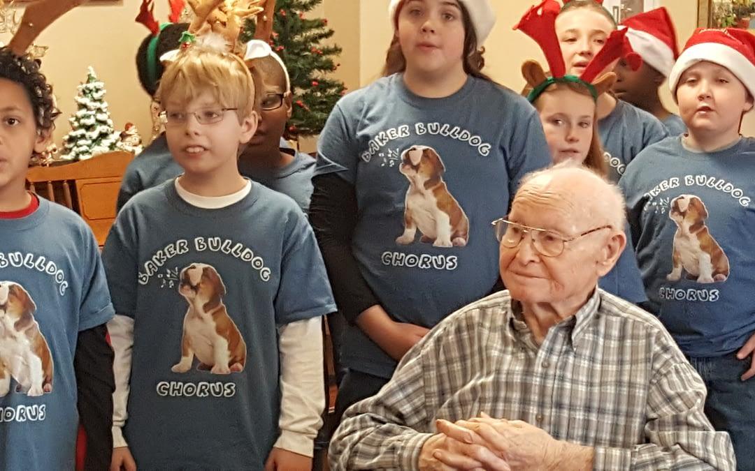 Baker Elementary School Choir Sings Carols at Morning Pointe