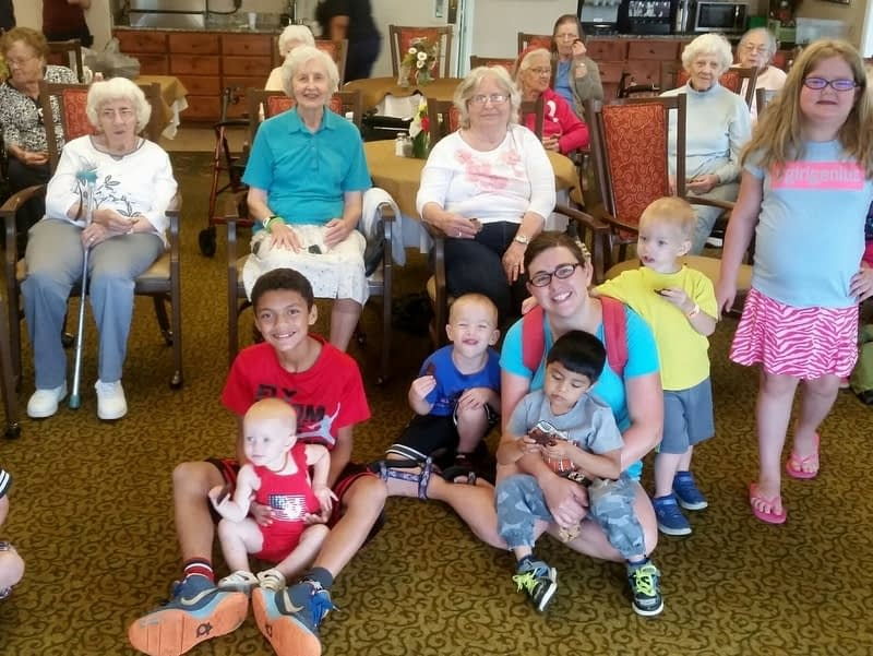Local Kids Read with Morning Pointe Residents