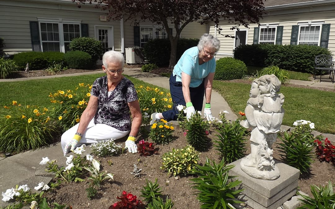 Morning Pointe Seniors Connect with Community Garden