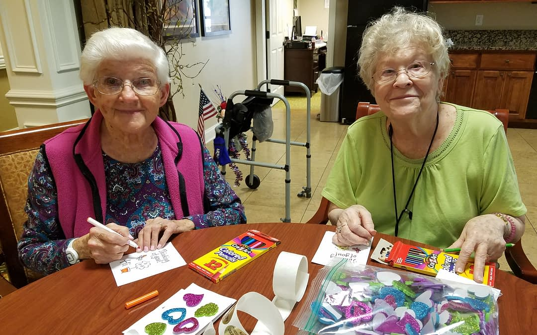 Morning Pointe Makes Cards for Memorial Hospital Cancer Patients