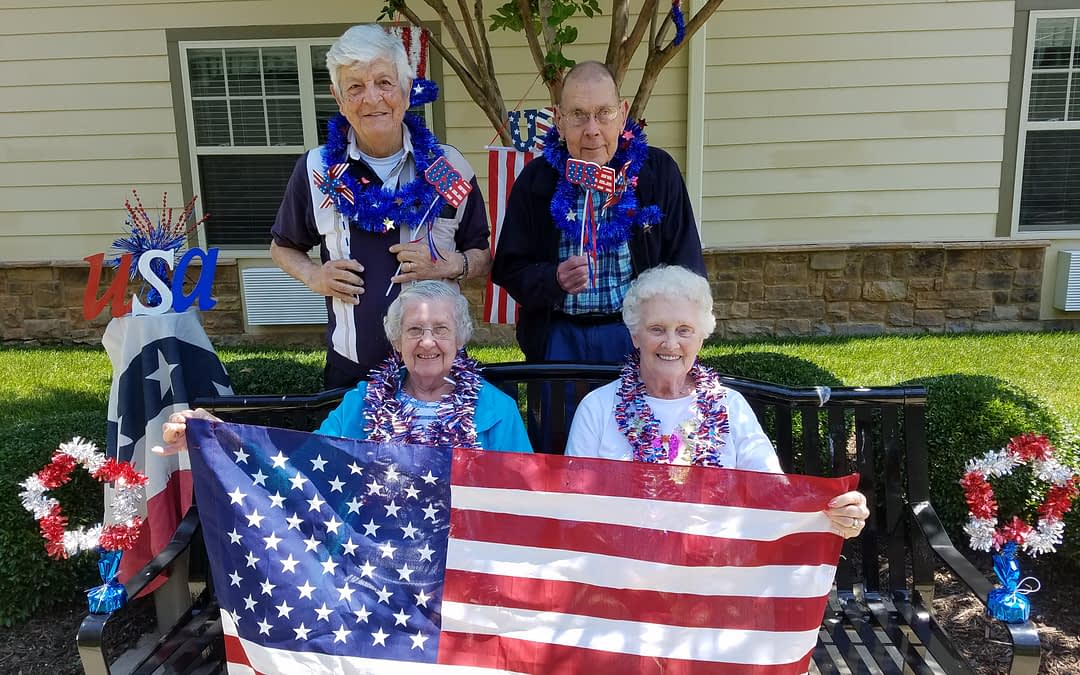 """Morning Pointe Residents Honor """"Flag Day"""""""