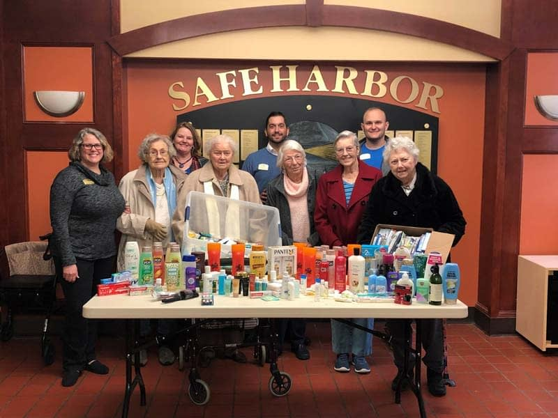 Morning Pointe Hosts Donation Drive to Benefit Safe Harbor