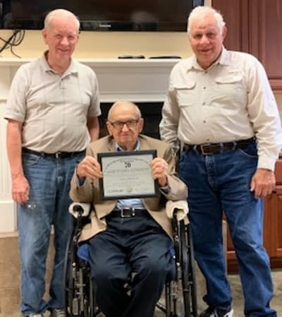 Local Freemasons Honor Morning Pointe Resident for 70 Years of Service
