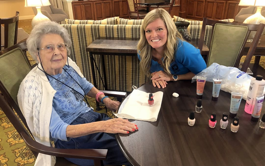 TVA Credit Union Volunteers Pamper Morning Pointe Residents
