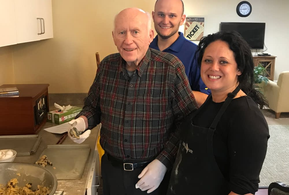 Weekly Baking Class Unites Morning Pointe Personal Care and Memory Care Residents