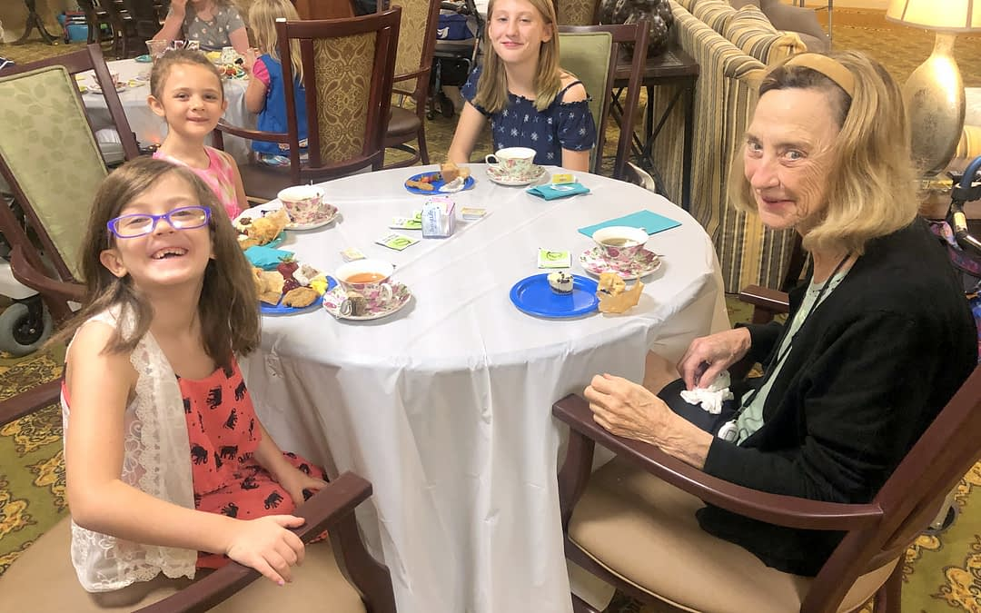 Local Girl Scouts Join Women of Morning Pointe for Tea
