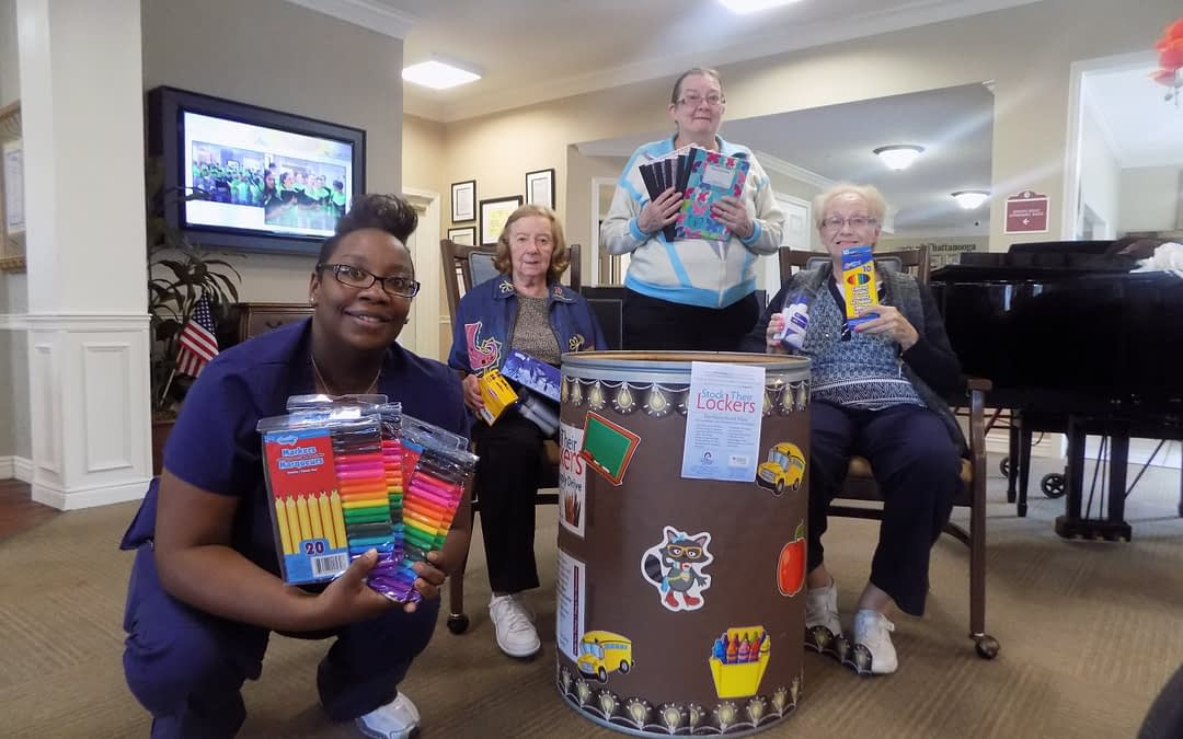 Morning Pointe, Samaritan Center 'Stock Lockers' for Kids